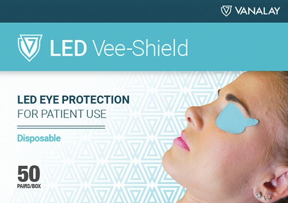 led vee-shield vanalay disposables