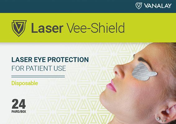 disposable laser vee-shield